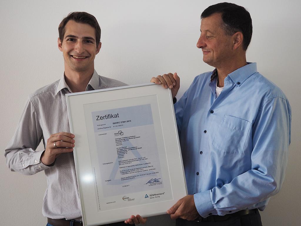 ISO 27001 Zertifizierung erneuert und erweitert